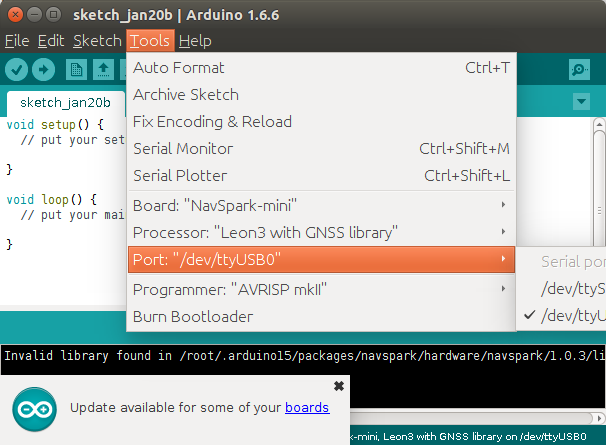 NavSpark_mini_Arduino